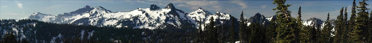 Ausblick vom Hang des Mount Rainier