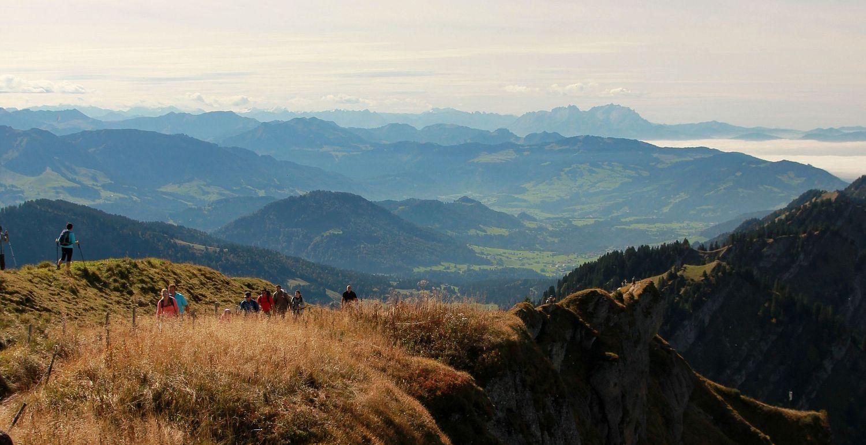 Ausblick vom Hochgrat.....