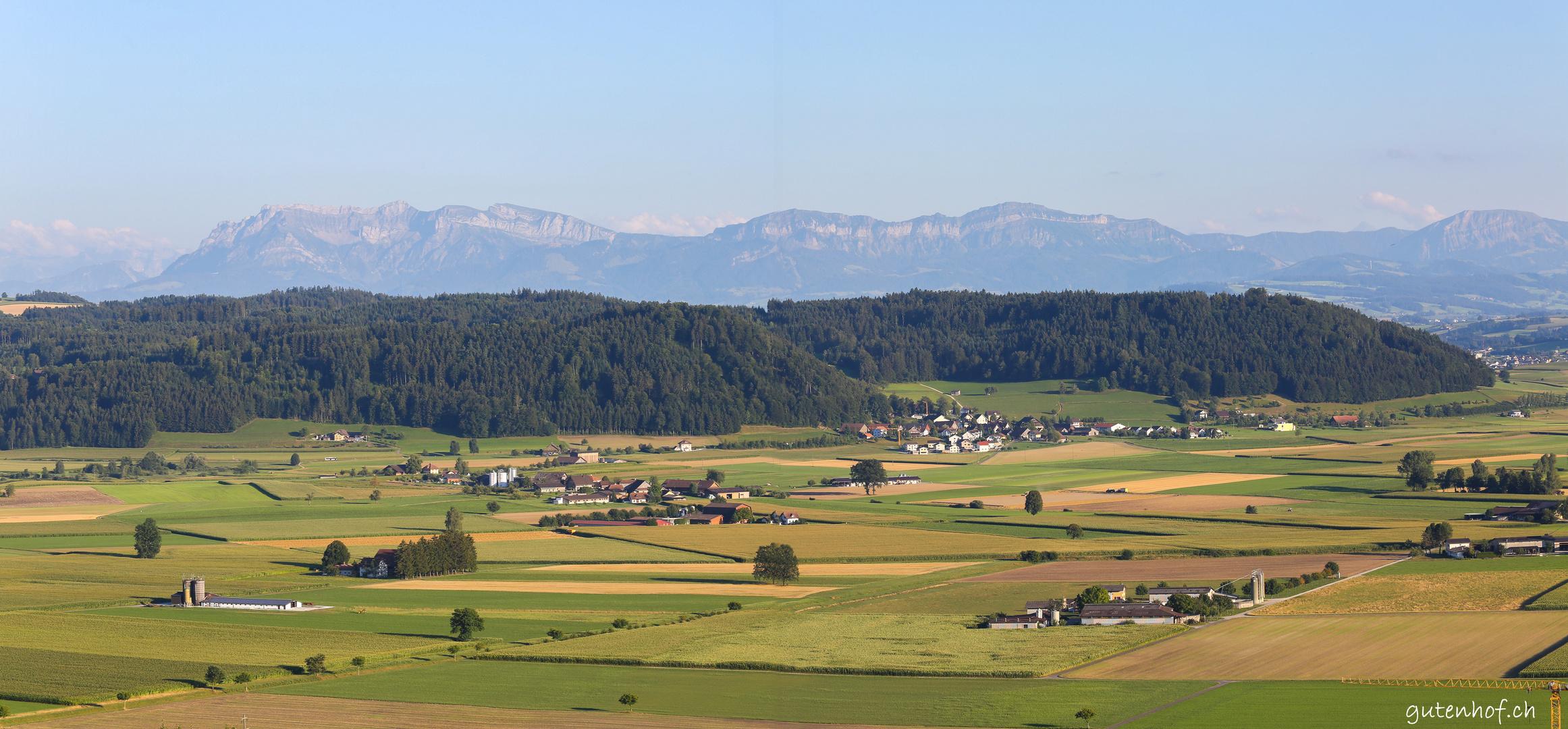 Ausblick vom Santenberg in Richtung Pilatus