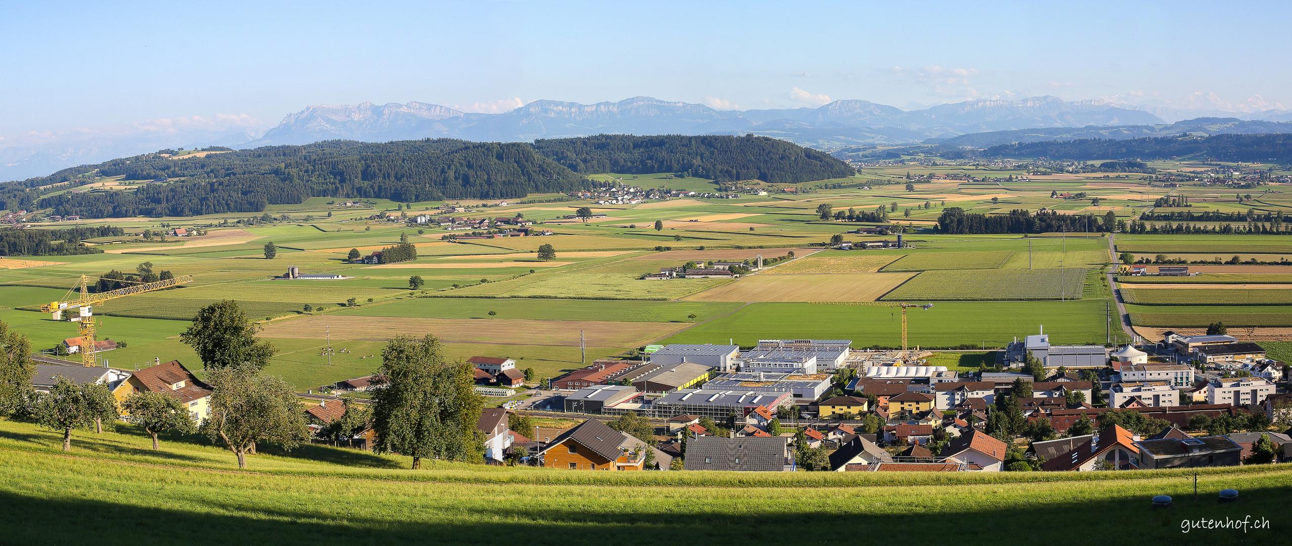 Ausblick vom Santenberg übers Wauwilermoos