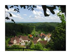 Ausblick von der Burg Hohenstein