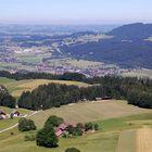 Ausblick von drer Ruine Wartenfels in Thalgau bei Salzburg
