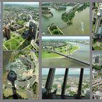 Ausblicke vom Rheinturm in Düsseldorf