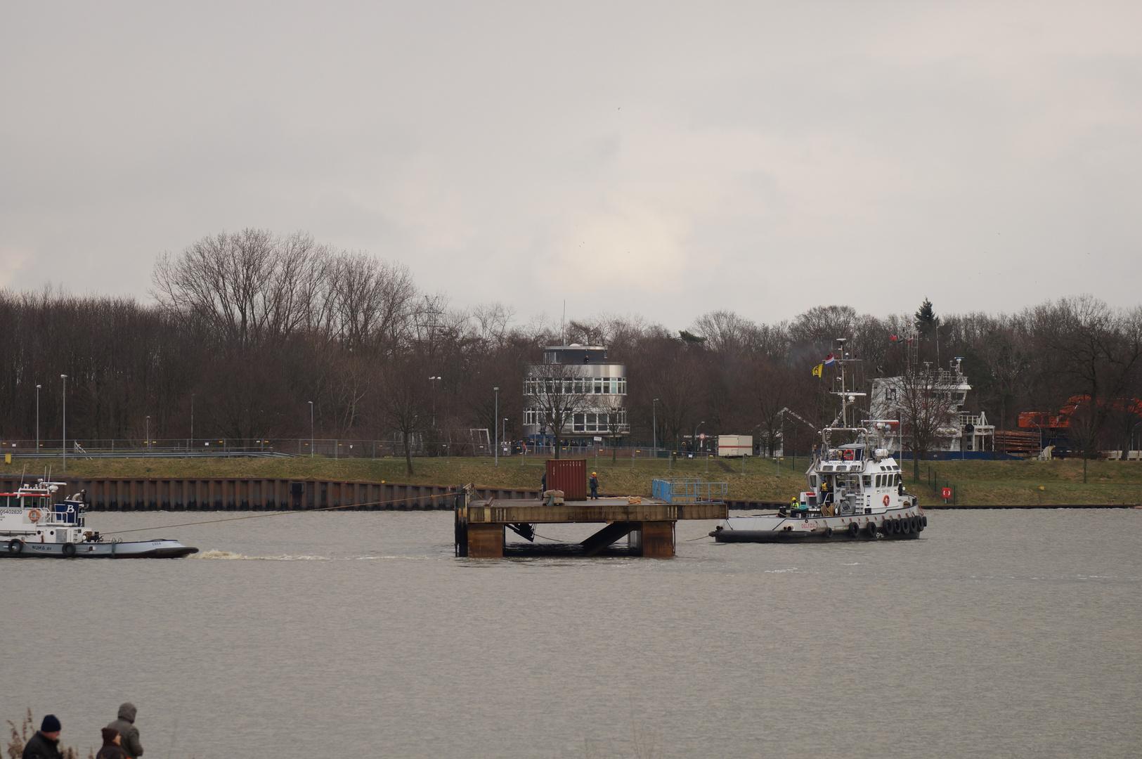 Ausdocken auf der Meyer Werft Teil 15