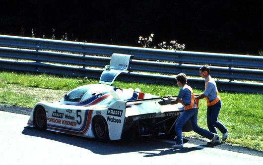 Ausfall des CK.5T-Kremer Porsche