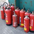 Ausgemusterte Feuerlöscher