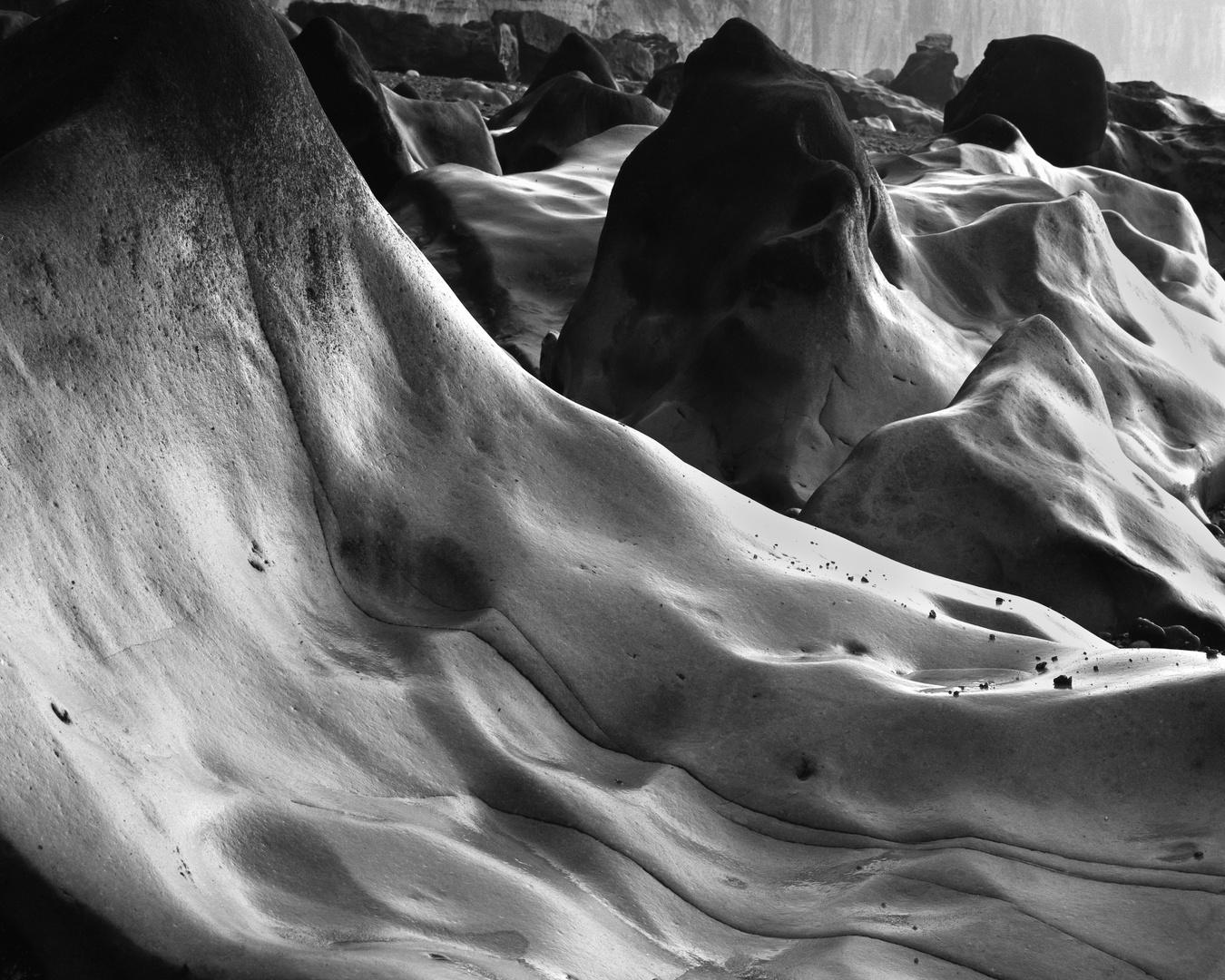 Ausgewaschene Kreidefelsen an der Cote d'albatre 2