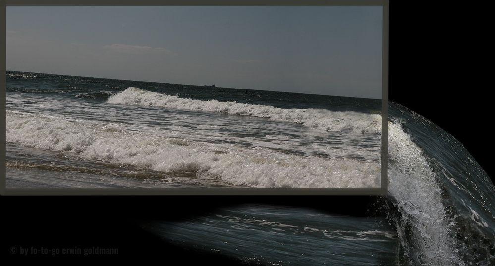 Auslaufendes Wasser - auslaufende Nordsee
