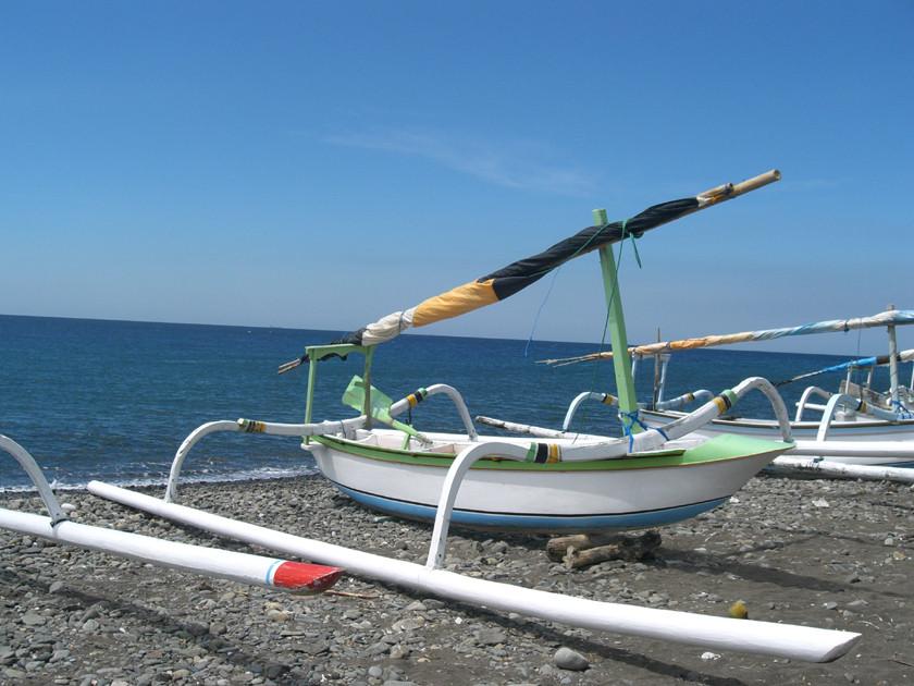 Auslegerboote auf Bali