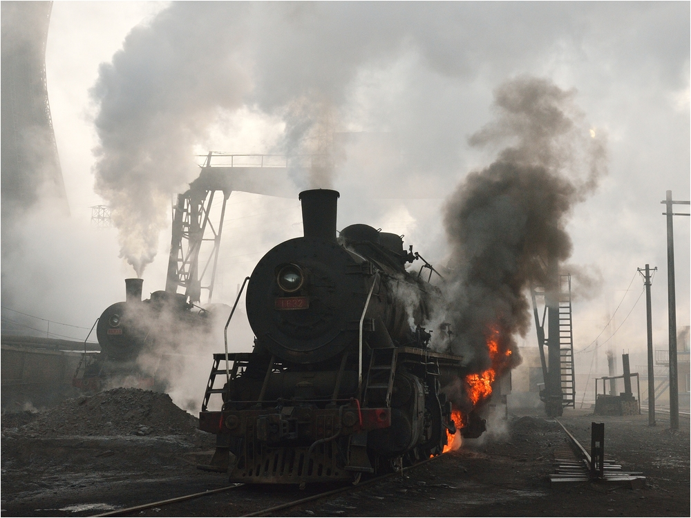 Ausschlacken im Bahnbetriebswerk I