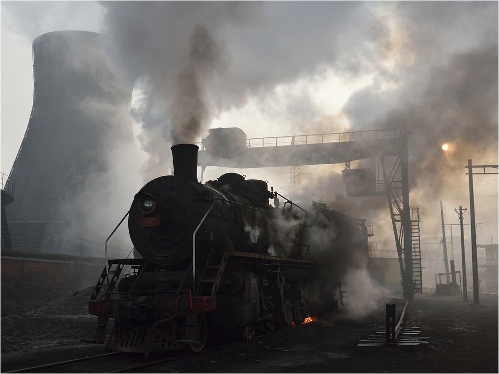Ausschlacken im Bahnbetriebswerk II