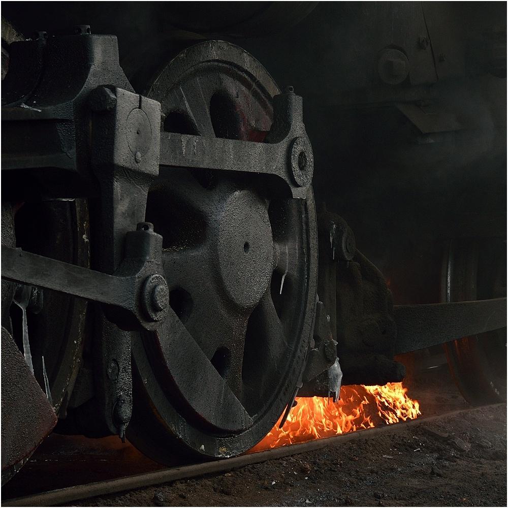 Ausschlacken im Bahnbetriebswerk III