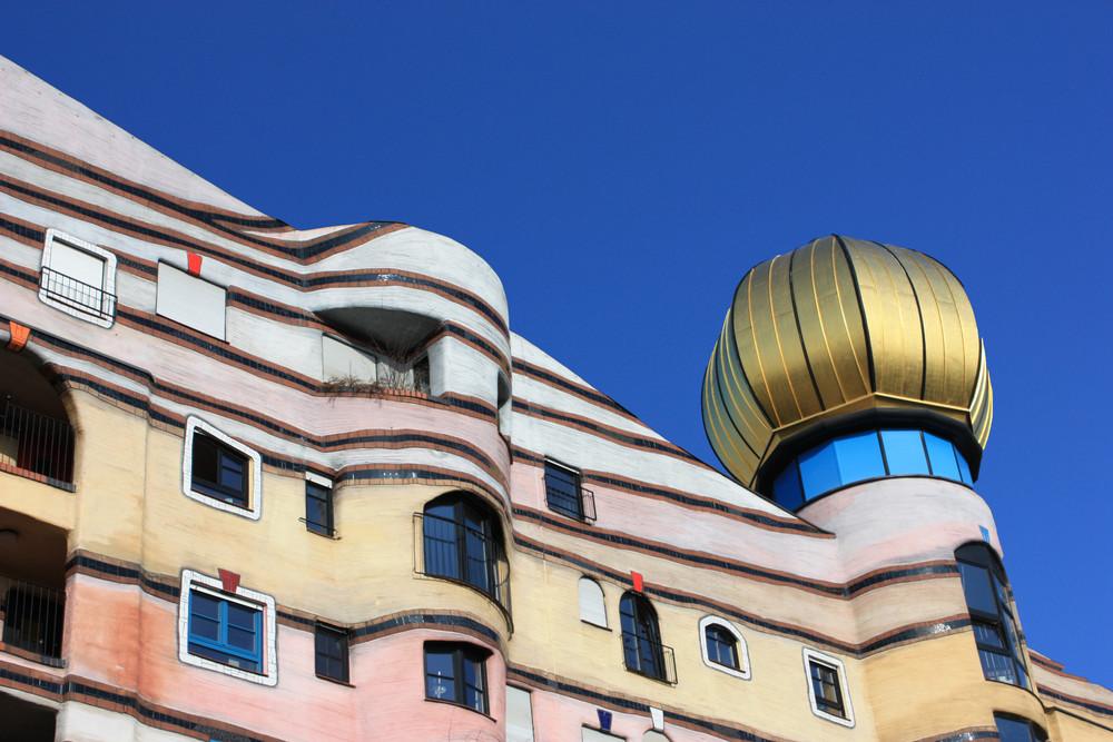 Ausschnitt Hundertwasserhaus Darmstadt