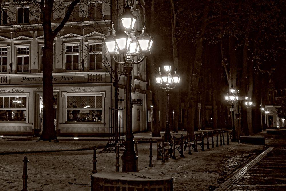 Ausschnitt Kevelaer bei Nacht