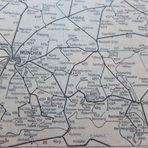 Ausschnitt Kursbuch-Karte Bayern