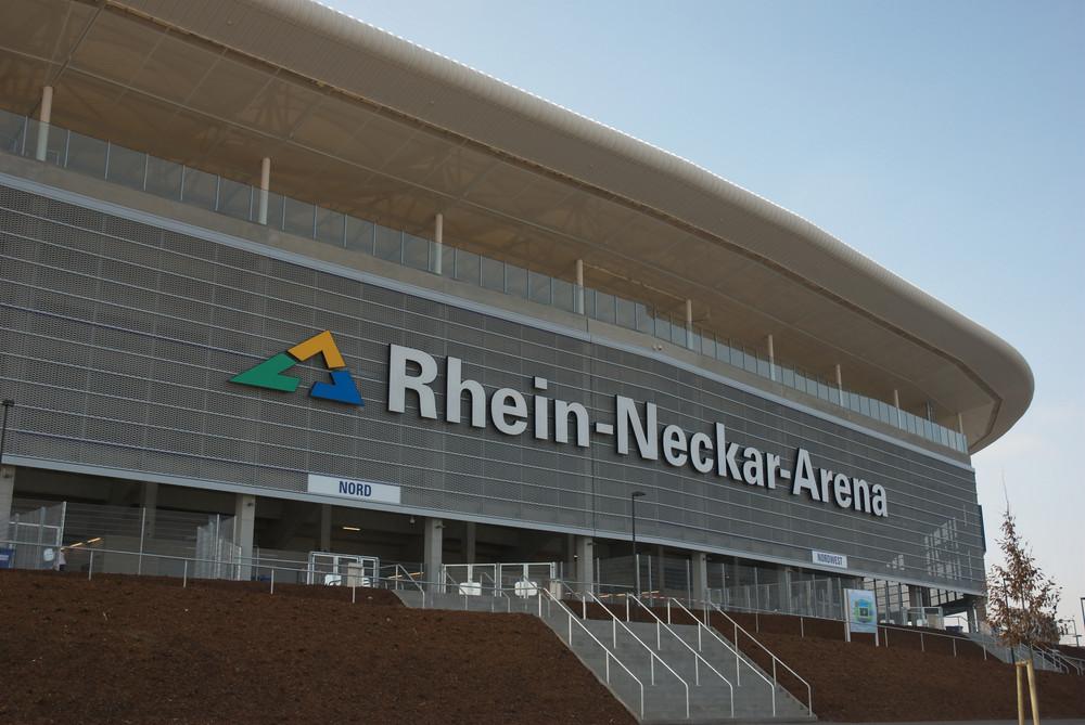 Aussenansicht der Rhein-Neckar-Arena Sinsheim...