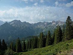 Aussicht in Allgäuer Alpen