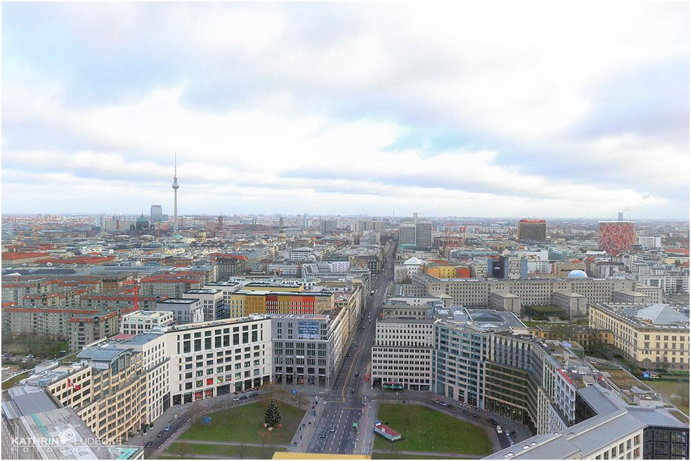 Aussicht vom Panoramapunkt in Berlin