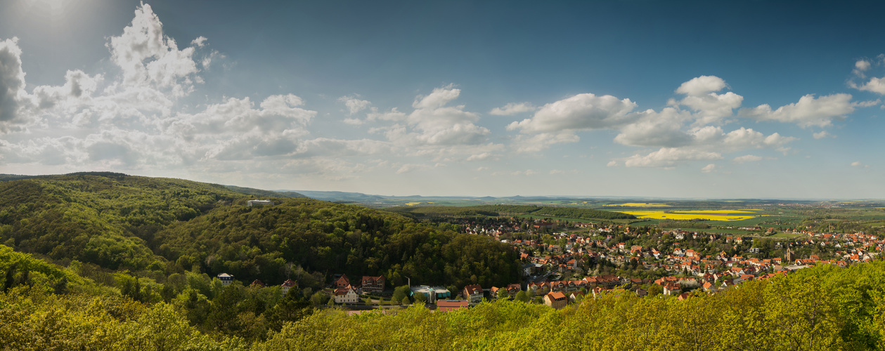 Aussicht vom Preußentum in Bad Suderode / Gernrode