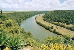 Aussicht von Altos de Chavon auf den Rio Chavon