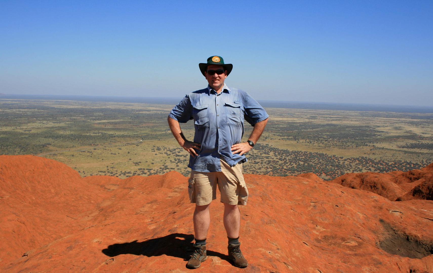 Aussie on the Rock!