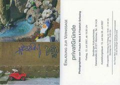 "Ausstellungspostkarte ""privatGründe"""