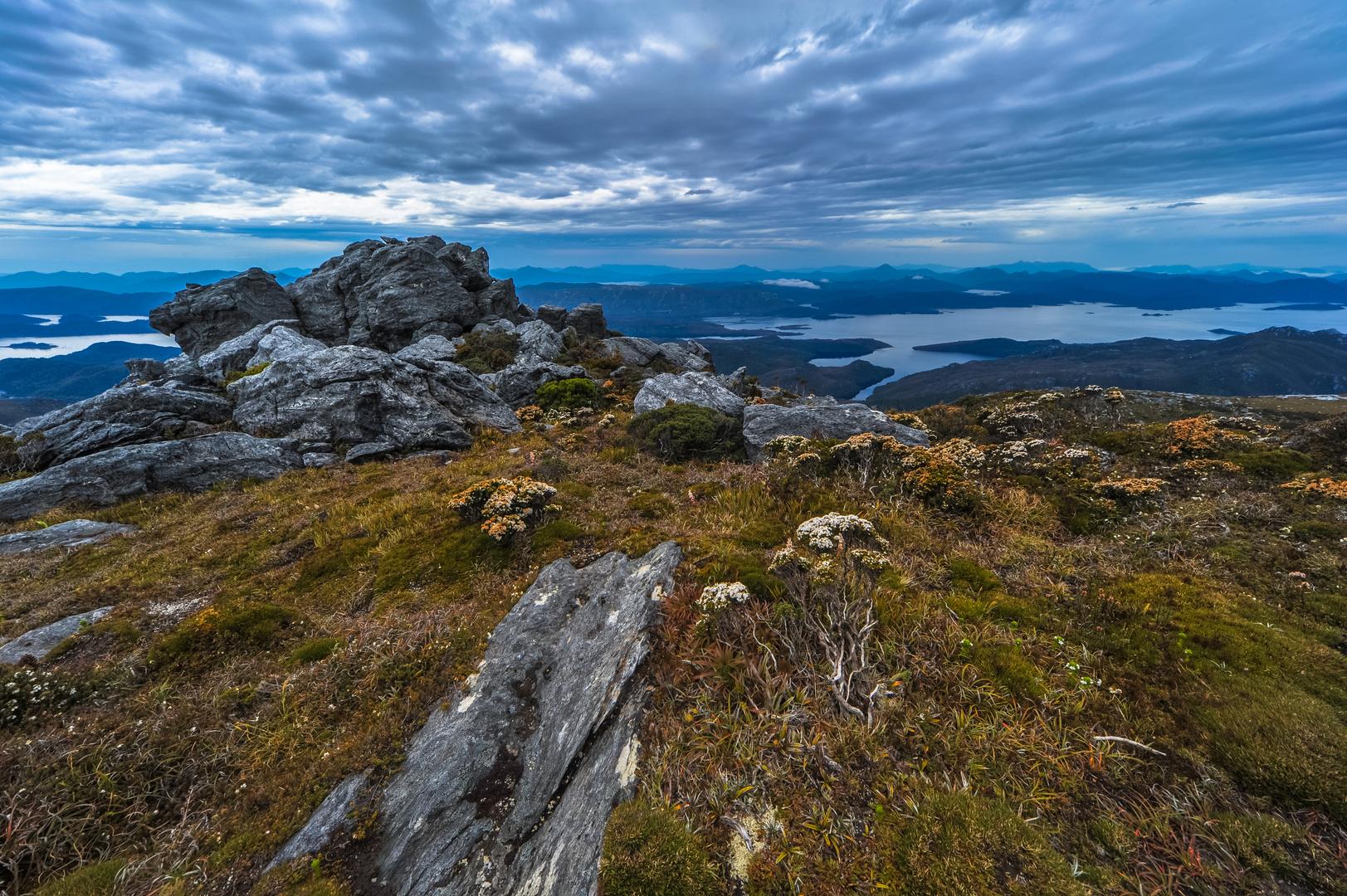 Australien, Tasmanien: Mount Sprent, am Gipfel