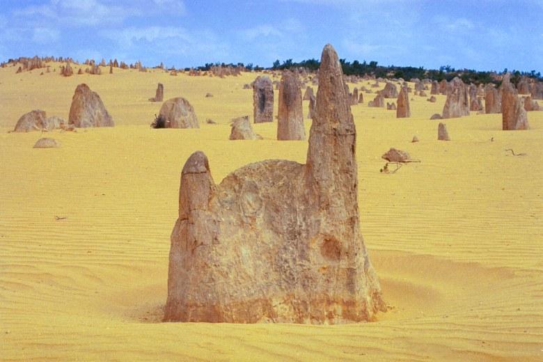 Australienurlaub 2003: Skulpturen in der Wüste (Pinnacles, Westaustralien)