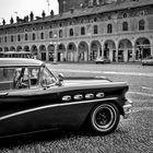 Auto vintage in piazza Ducale, Vigevano