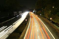 Autobahn A24 bei nacht
