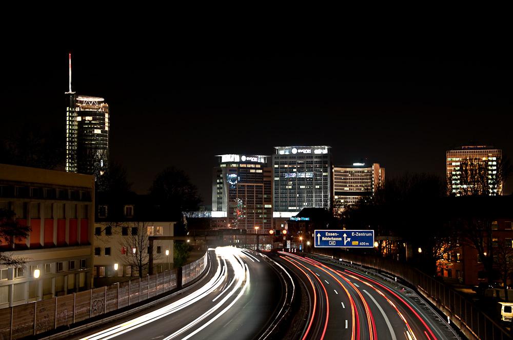 Autobahn A40, Skyline Essen