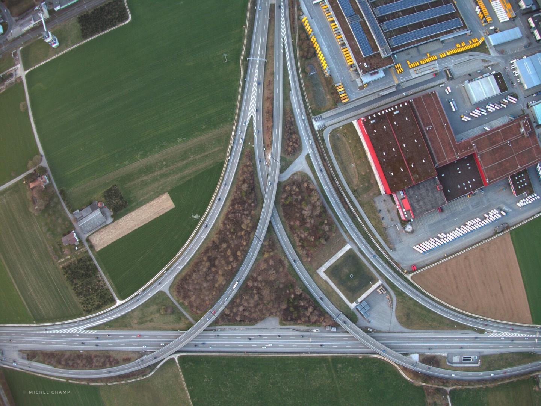 Autobahnkreuz von Härkingen