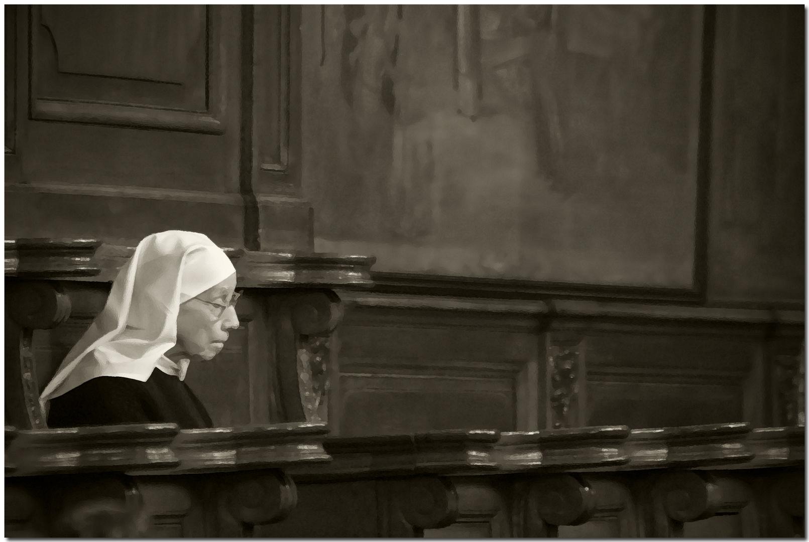 Automne à Bruges XVIII Prière