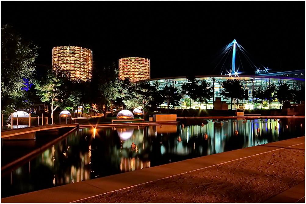 Autostadt Wolfsburg Foto & Bild   night, nacht, natur ...