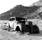 Autowrack am Rande der Huib-Berge, Namibia