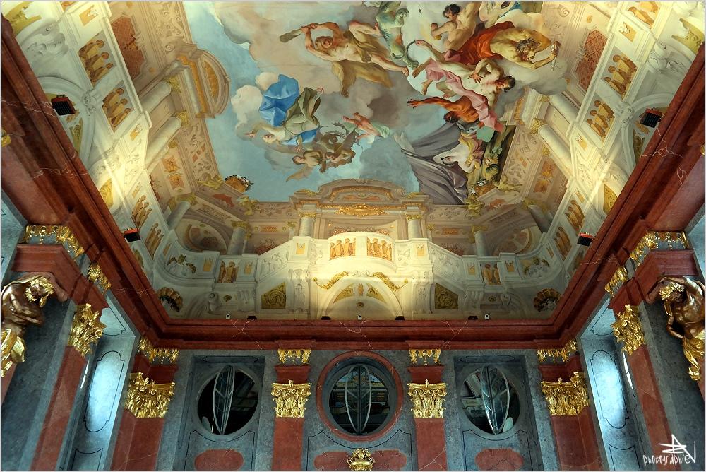 Autriche - Melk - Abbaye bénédictine, salle d'apparat