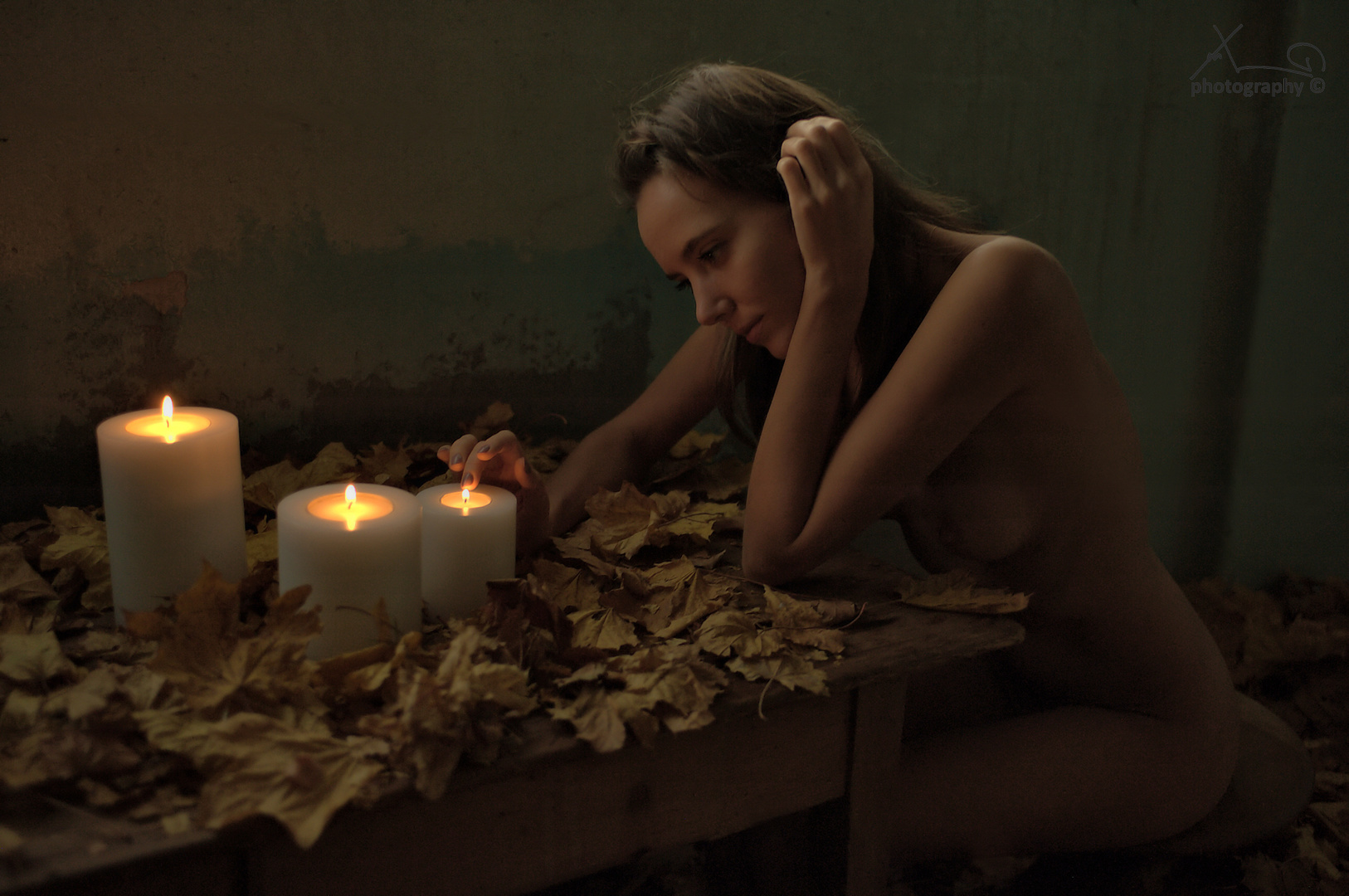 autumn candle light