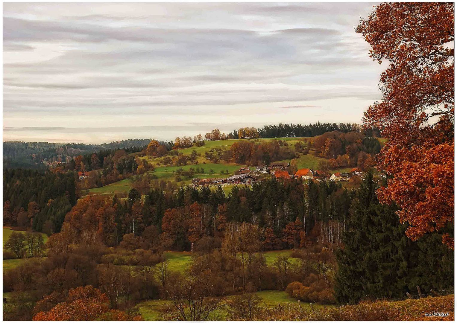 autumn in kapf, south of germany