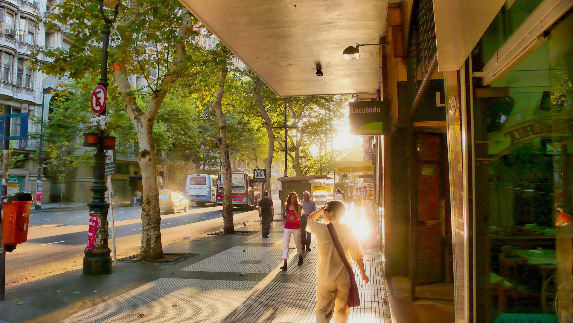 Avenida De mayo -luz