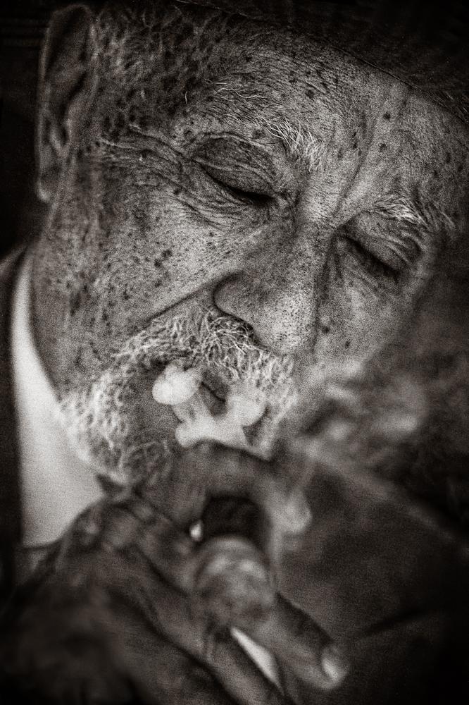 Avo Uvezian - enioying his own cigar...