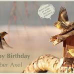 Axel hat Geburtstag