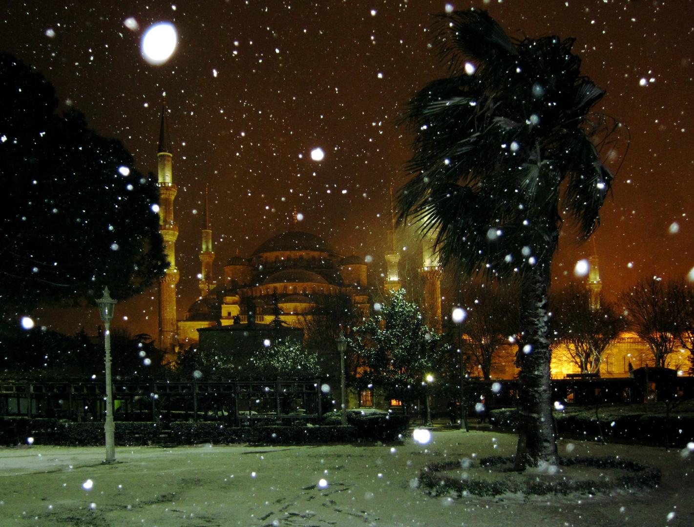 Ayasofia im Schnee