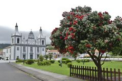 Azoren -  Kirche in Praia do Almoxarife auf der Insel Faial