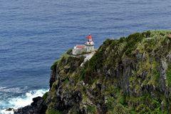 Azoren - Leuchtturm vor Nordeste auf der Insel São Miguel