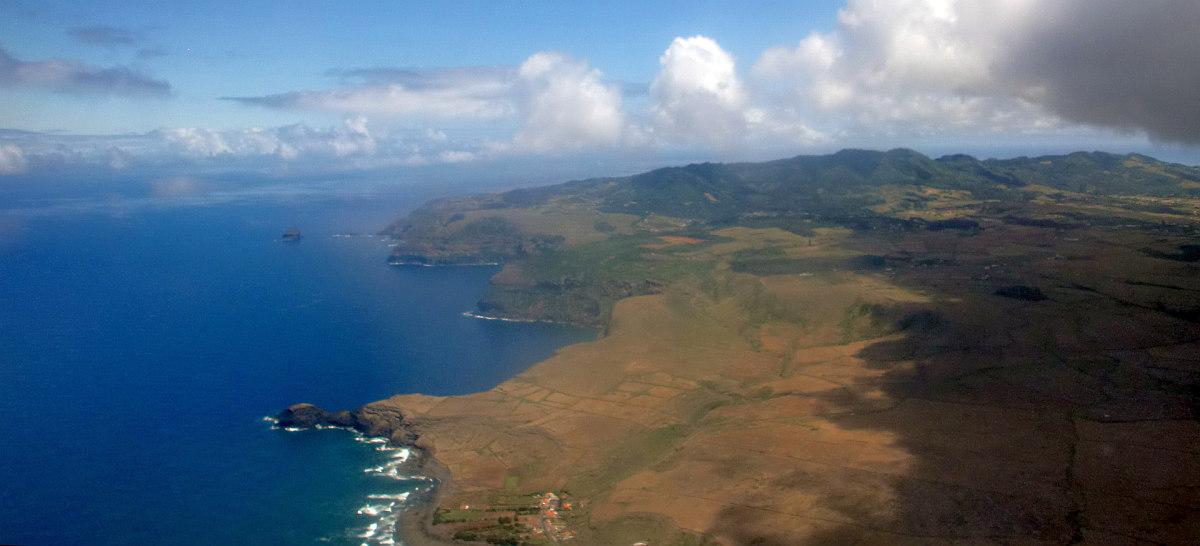 Azoren: Nordküste der gelbe Insel, mindestens 6 Monaten im Jahr unter 100 m Höhe