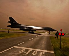 B-1B hat Vorfahrt