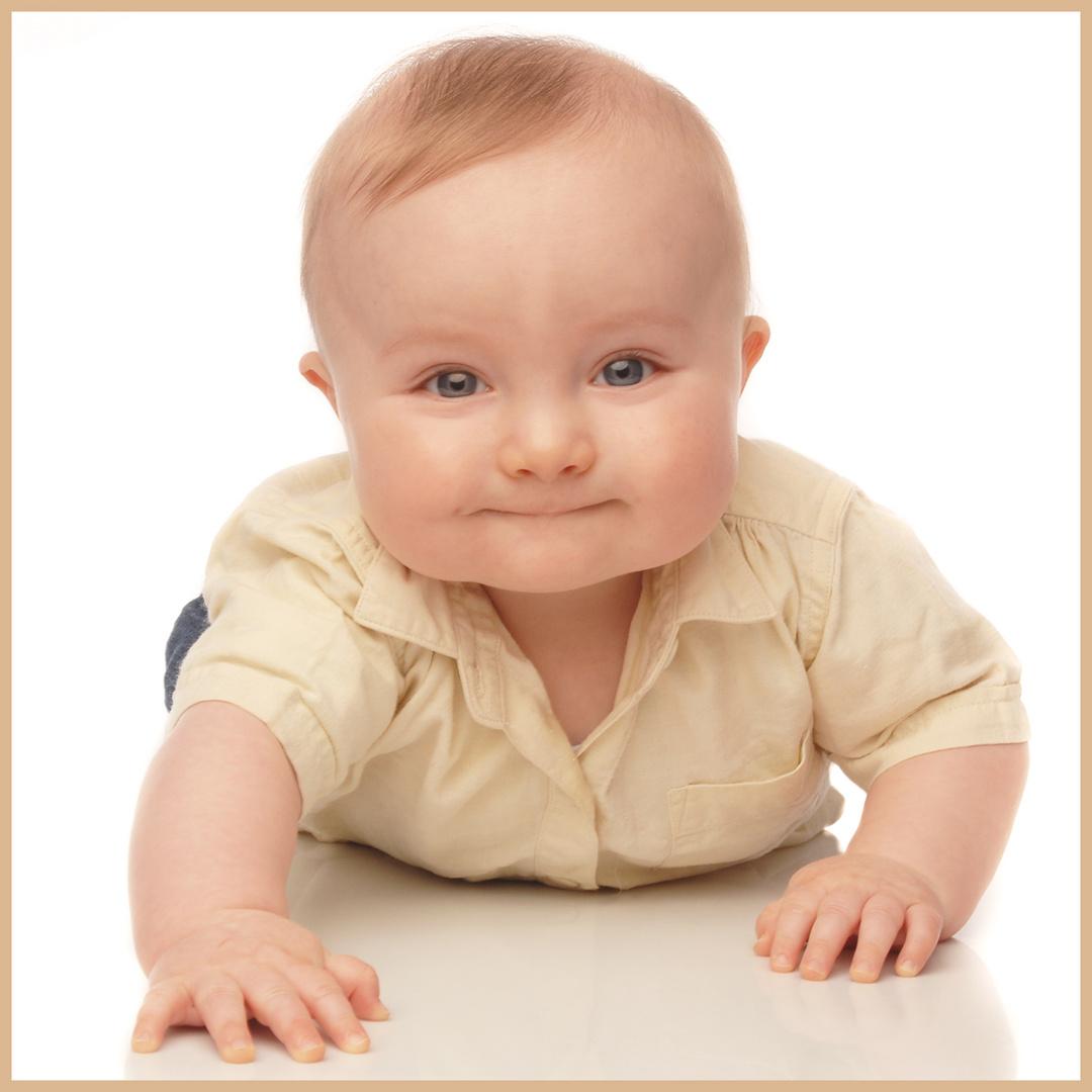 Baby 7 Monate alt Portrait