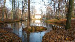 Bachinsel im Herbst