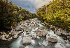 Bachlauf am Milford Sound