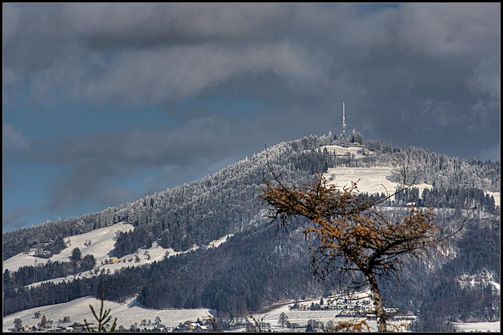 Bachtel im Winter